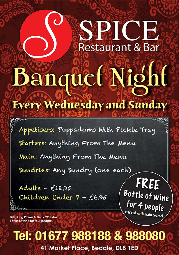 Spice-Restaurant-in-Bedale-Special-Nights-Menu-New-2019
